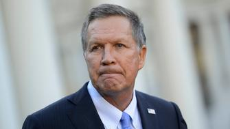 WASHINGTON, DC - NOVEMBER 10:  Ohio Governor John Kasich speaks with media after President Obama welcomed the 2016 NBA Champions Cleveland Cavaliers to The White House on November 10, 2016 in Washington, DC.  (Photo by Leigh Vogel/WireImage)