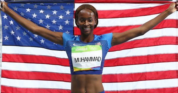 "New York City native Dalilah Muhammad <a href=""http://www.huffingtonpost.com/entry/dalilah-muhammad-400m-hurdles_us_57b65f52e"
