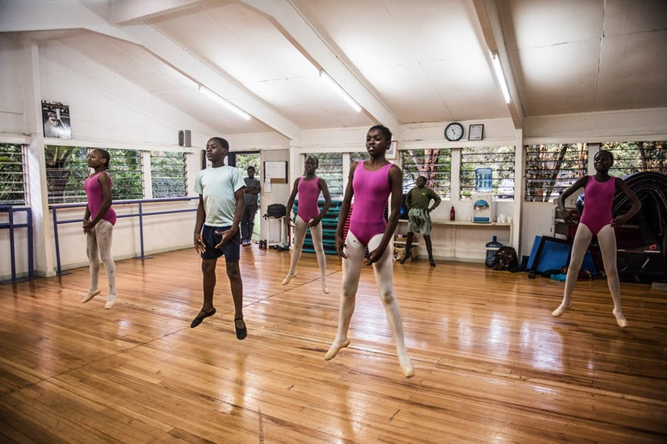 Some of the older students train one day a week in a upper-class ballet school in Karen. The routines here are the same