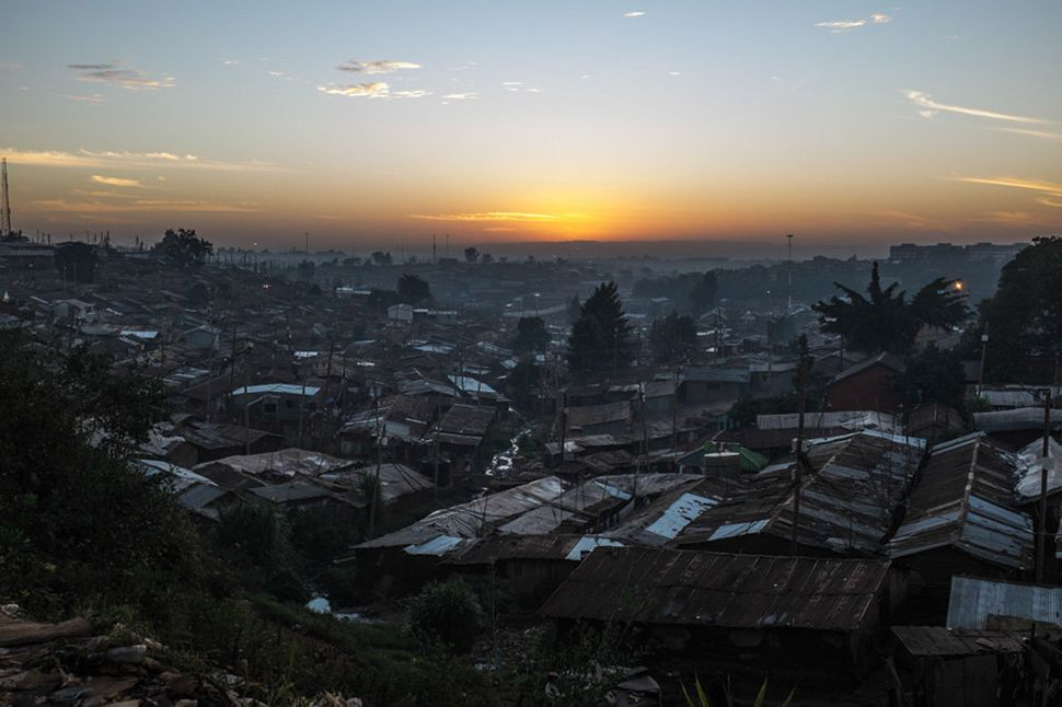 A view over Kibera, the biggest slum in Africa.