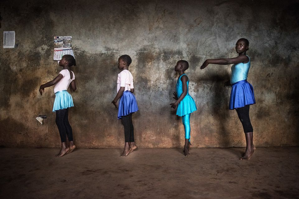 Fredrik Lerneryd spent a year and a half photographing ballet dancers in the Kibera neighborhood of