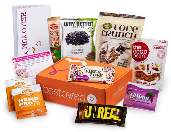 "Nutritionist-approved snacks box, $20 per month, <a href=""http://www.bestowed.com/products/join-bestowed"" target=""_blank"">Con"