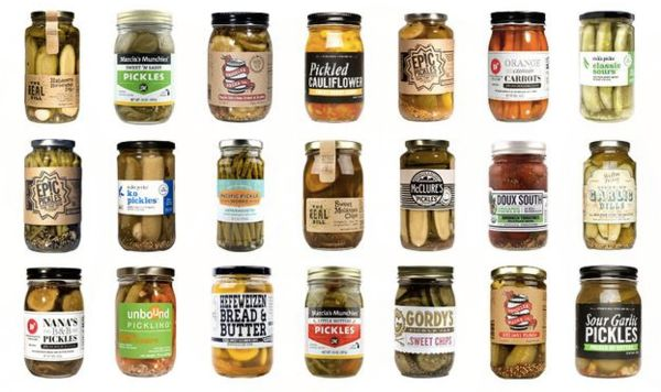 "Selection of pickles, $58 per month for three months, <a href=""https://www.mouth.com/products/pickles-every-month?skimproduct"