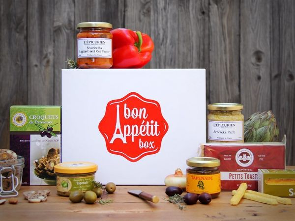 "French foods for the francophile in your life, $70-$390 depending on subscription at <a href=""http://bonappetitbox.com/"" targ"