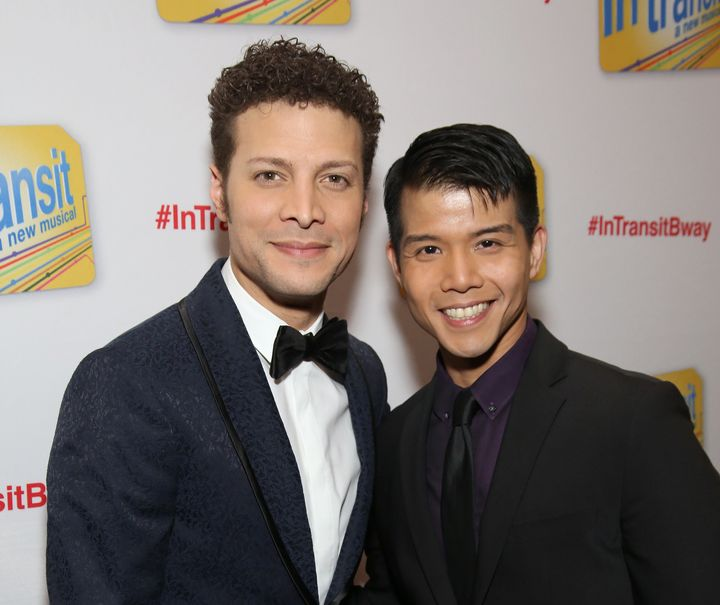 """Justin Guarini and Telly Leung star in """"In Transit,"""" which opened Dec. 11 on Broadway."""