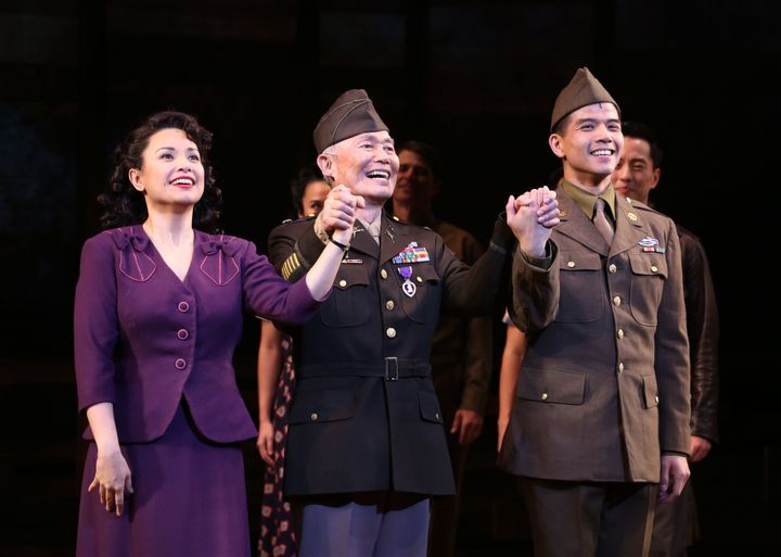"""""""Allegiance,"""" which starred Lea Salonga, George Takei and Leung, will get a new life on the big screen on Dec. 13."""