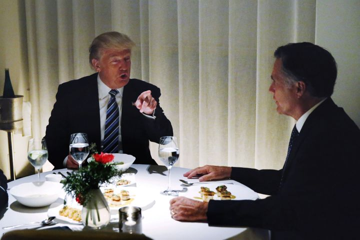 President-elect Donald Trump has dinner with his former detractor and past GOP presidential nomineeMitt Romney on Nov.