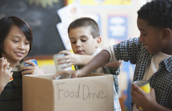 Any non-perishable items that weren't used ― such as canned cranberry sauce and gravy, or powdered mashed potatoes (I w