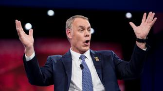 UNITED STATES - MARCH 3: Rep. Ryan Zinke, R-Mont., speaks at the American Conservative Union's CPAC conference at National Harbor in Oxon Hill, Md., on Thursday, March 3, 2016. (Photo By Bill Clark/CQ Roll Call)