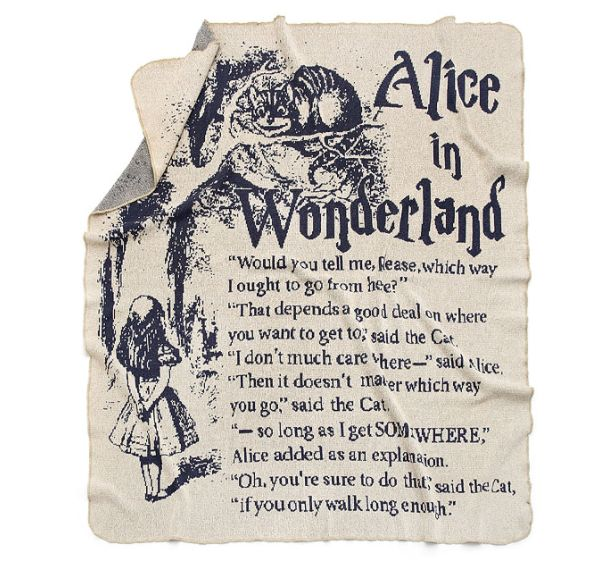 "$75.00.&nbsp;<a href=""http://www.uncommongoods.com/product/alice-in-wonderland-storybook-blanket"" target=""_blank"">Buy it here"