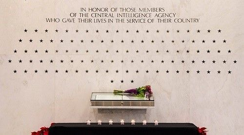 The Wall of Stars honoring members of the CIA who gave their lives. Langley, Virginia.