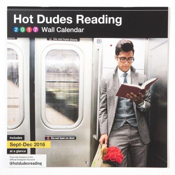 "$14.99.&nbsp;<a href=""http://www.calendars.com/Hot-Dudes-Reading-Wall-Calendar/prod201700000085/"" target=""_blank"">Buy it here"