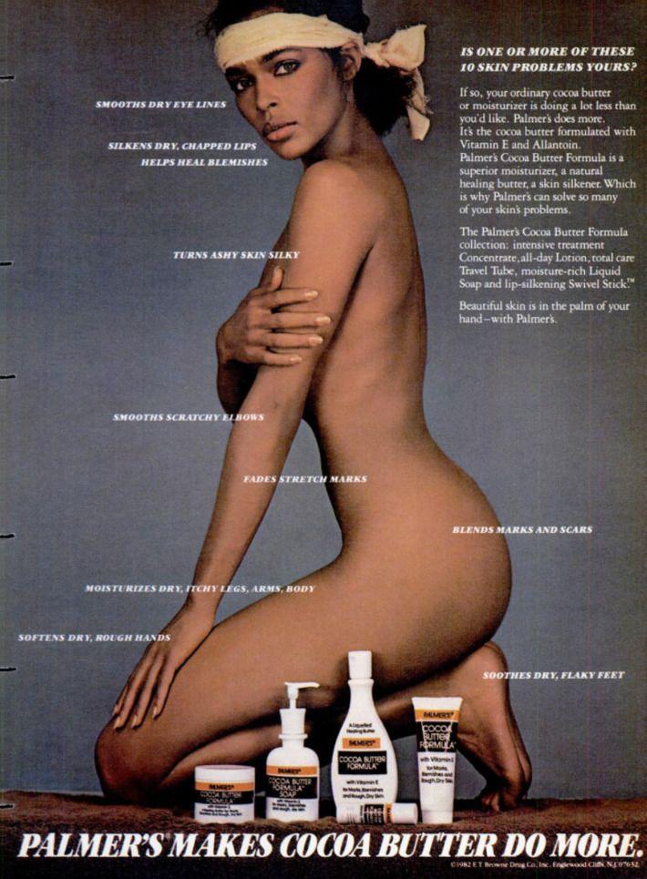 A vintage stretch-mark cream ad.