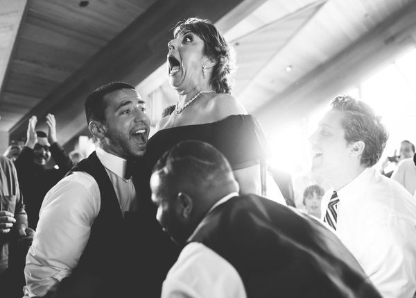 """""""This is the mother of the groom. How she's feeling is pretty self-explanatory!"""" -- <i>Bre Thurston</i>"""