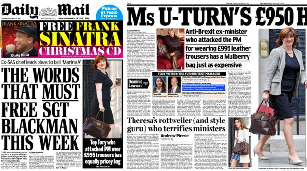 The Daily Mail on Monday devoted four whole pages and a third of its front page to the