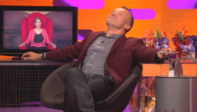 Graham Norton clearly enjoys the unpredictable aspect of the Big Red Chair as much as his