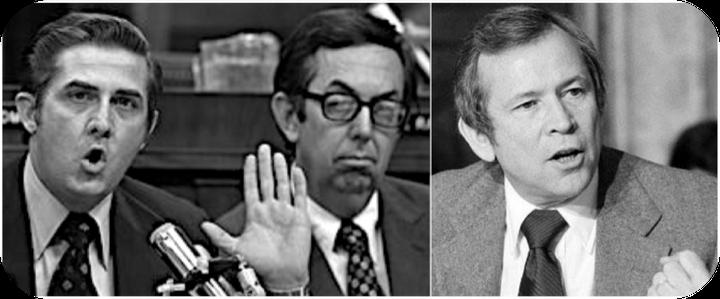 Congressmen Lawrence Hogan and M. Caldwell Butler; Senator Howard Baker