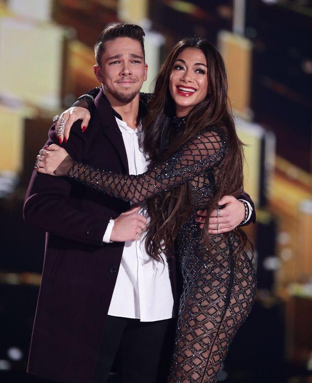 Matt with 'X Factor' mentor Nicole