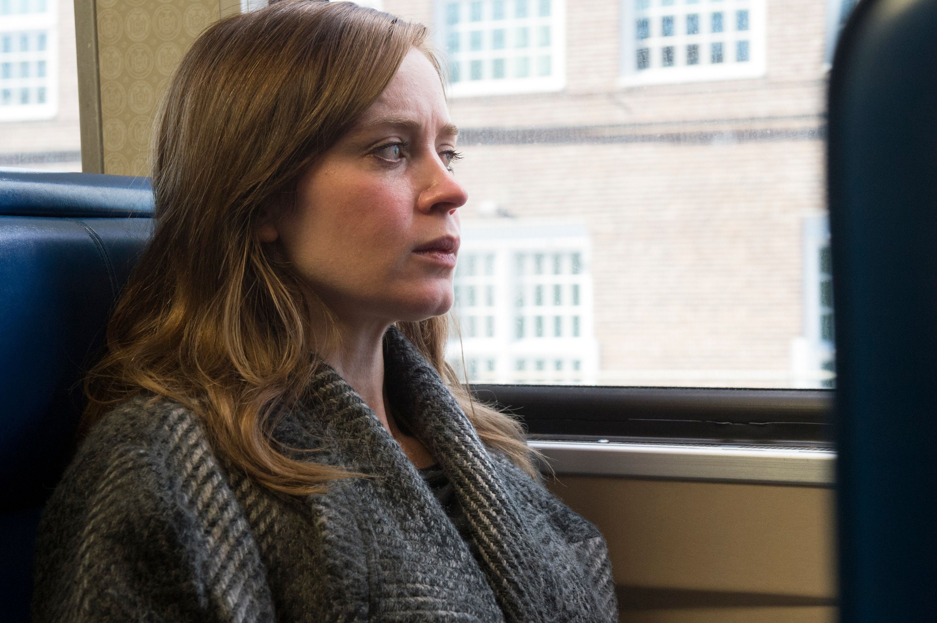 "EMILY BLUNT stars in DreamWorks Pictures' ""The Girl on the Train,"" from director Tate Taylor and producer Marc Platt.  In the thriller, Rachel (Blunt), who is devastated by her recent divorce, spends her daily commute fantasizing about the seemingly perfect couple who live in a house that her train passes every day, until one morning she sees something shocking happen there and becomes entangled in the mystery that unfolds."