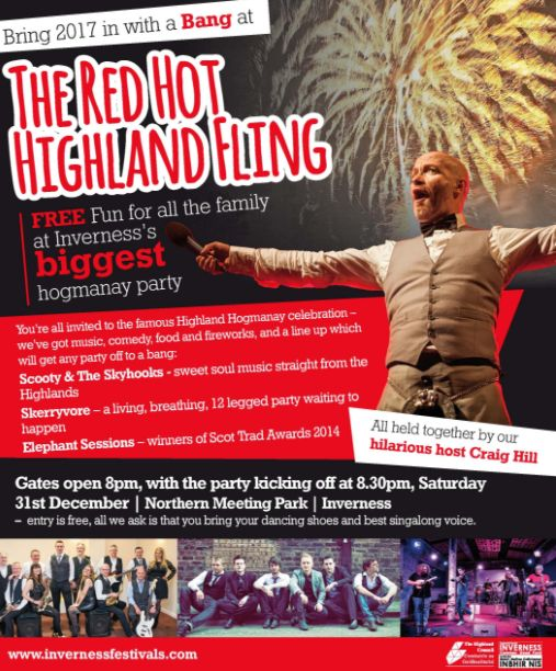 The Red Hot Highland Fling is the biggest free Hogmanay party in