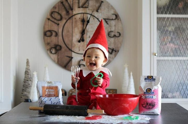 Photographer Gabi Cope's daughter Esme is up to no good in her family's home as an Elf on the Shelf.