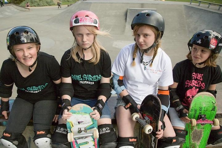 She Shreds is an Australian organization that promotes girls' involvement in skateboarding.