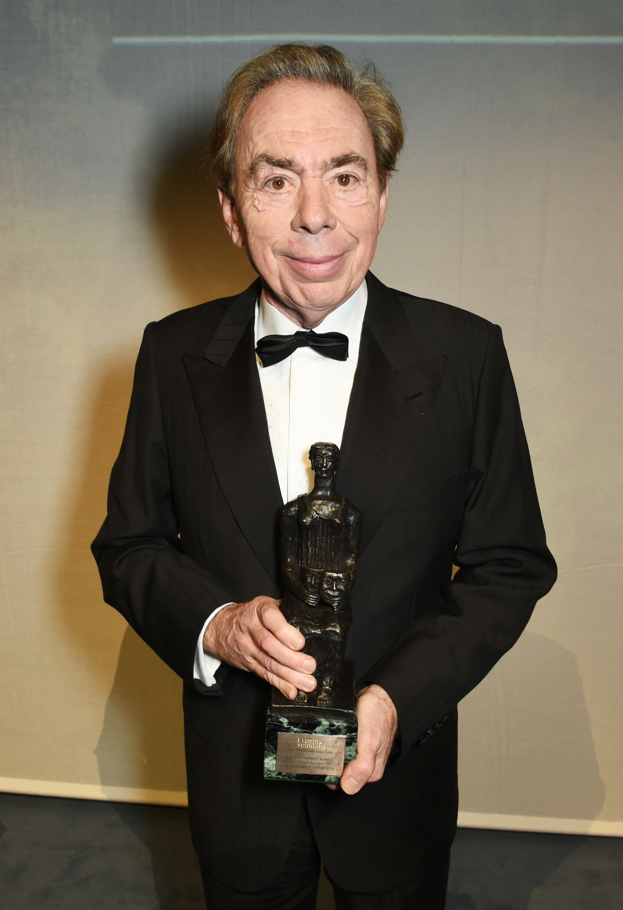 LONDON, ENGLAND - NOVEMBER 13:  Lord Andrew Lloyd Webber attend The 62nd London Evening Standard Theatre Awards after party, recognising excellence from across the world of theatre and beyond, at The Old Vic Theatre on November 13, 2016 in London, England.  (Photo by David M. Benett/Dave Benett/Getty Images)