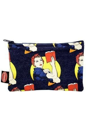 "$9.95.&nbsp;<a href=""http://www.strandbooks.com/tote-bags-pouches/pouch-rosie-the-reader"" target=""_blank"">Buy it here.</a>"