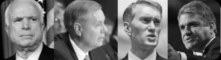 John McCain (AZ); Lindsey Graham (SC); James Lankford (OK); Michael McCaul (TX)