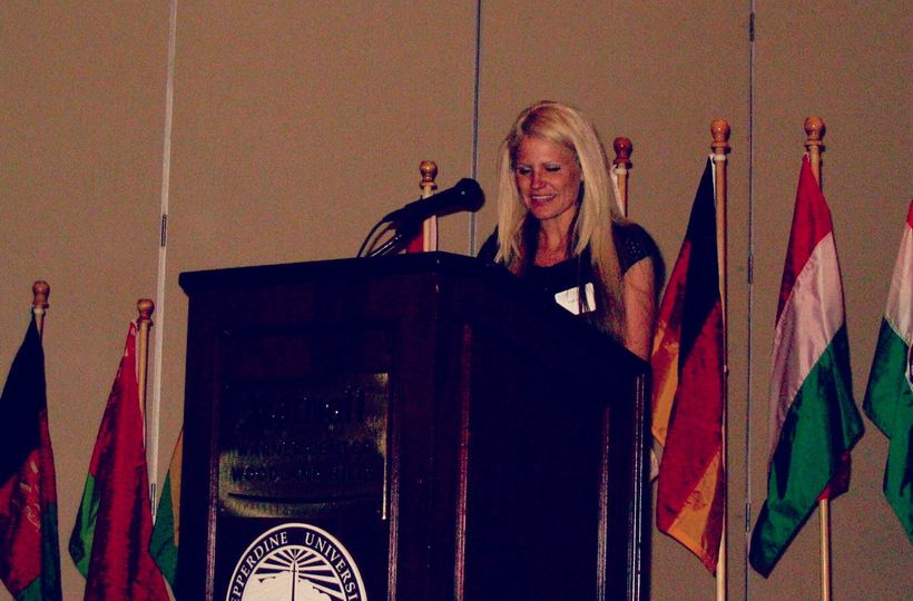Speaking at my graduation ceremony from Pepperdine (2007)