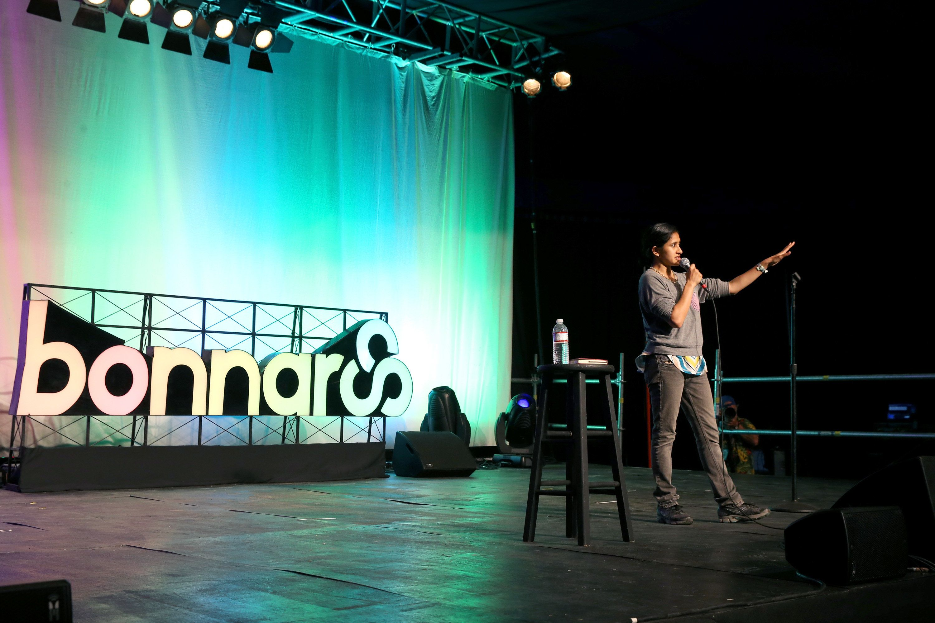 MANCHESTER, TN - JUNE 09:  Comedian Aparna Nancherla performs onstage during Comedy B'Roo Haha on Day 1 of the 2016 Bonnaroo Arts And Music Festival on June 9, 2016 in Manchester, Tennessee.  (Photo by FilmMagic/FilmMagic for Bonnaroo Arts And Music Festival )