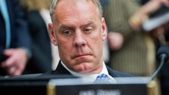 UNITED STATES - JANUARY 14: Rep. Ryan Zinke, R-Mont., attends a meeting of the House Armed Services Committee in Rayburn, January 14, 2015. (Photo By Tom Williams/CQ Roll Call)