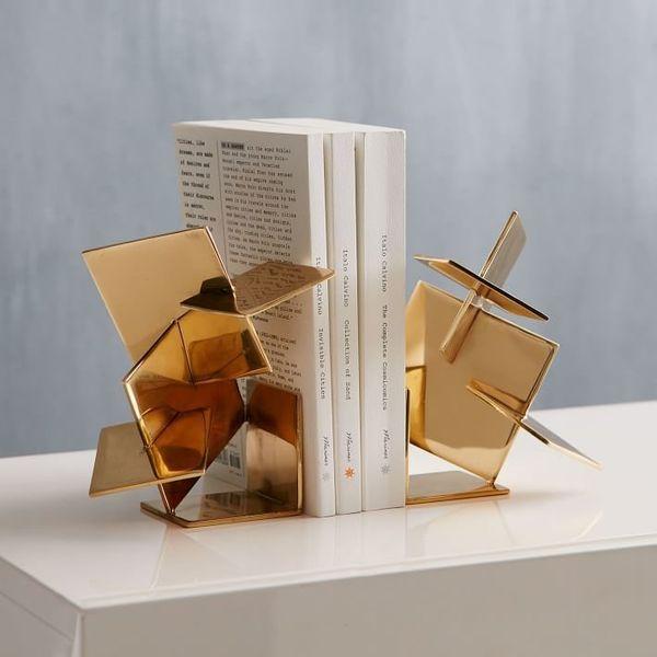 "$69.00.&nbsp;<a href=""http://www.westelm.com/products/geo-sculptural-metal-bookend-d4004/?pkey=e%7Cbookend%7C13%7Cbest%7C0%7C"