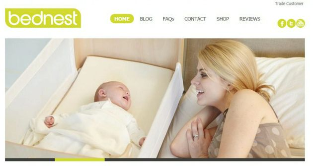 The webpage of the Bednest