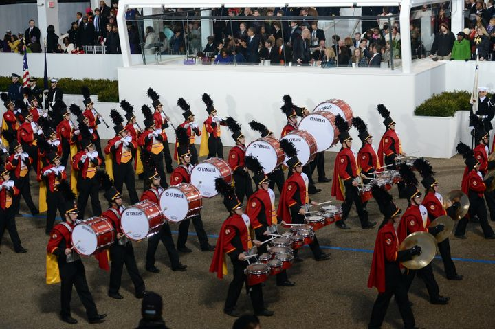 "The University of Maryland's ""Mighty Sound of Maryland"" Marching Band performed in Barack Obama's second inaugural parad"