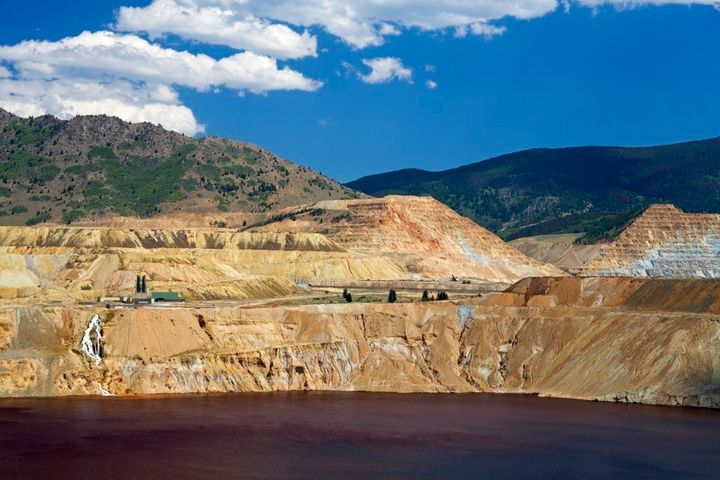 The toxic lake left behind after the Berkeley Pit copper mine shut down