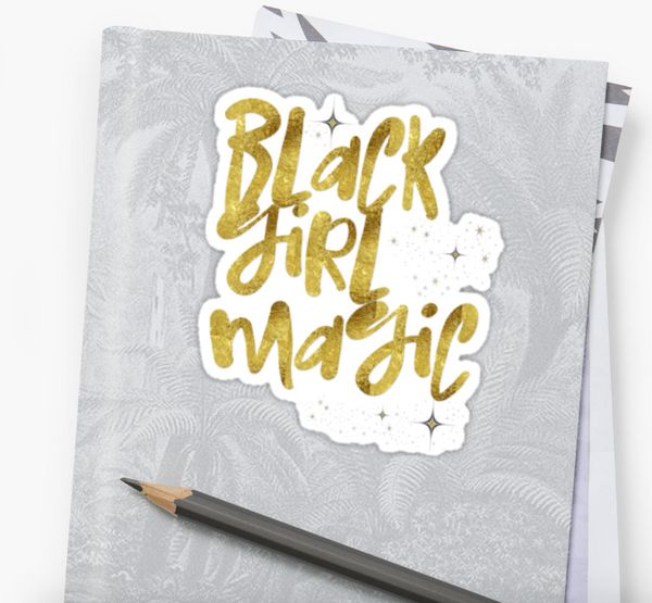 "$2.60, Cozy Tees Buffalo. <a href=""https://www.redbubble.com/people/cozyteesbuffalo/works/23576863-black-girl-magic-nah-"