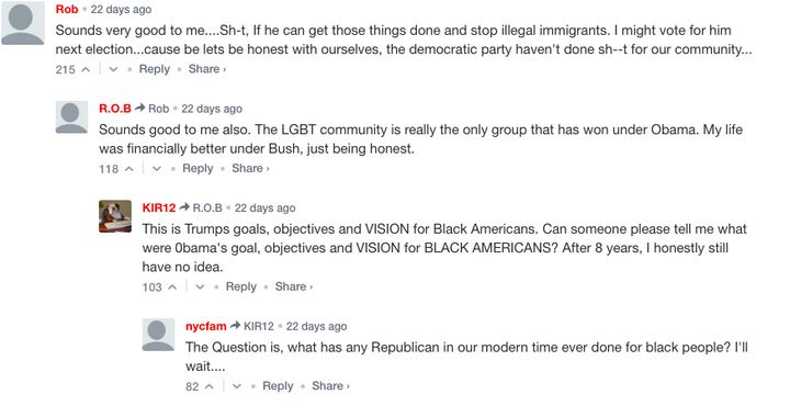 """Readers of MediaTakeOut.com comment on Trump's """"New Deal for Black America."""""""