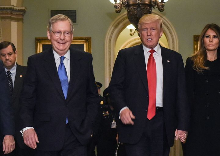 McConnell refused to answer questions about his party's presidential nominee for months. Now they'll be running the government together.