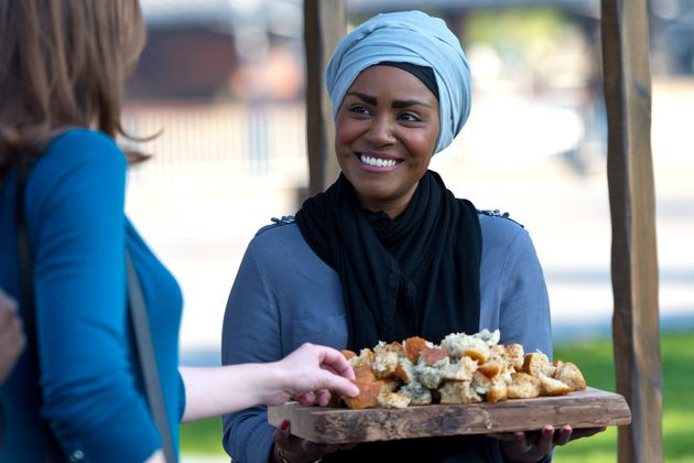 Nadiya Hussain, pictured above with a Great Fire of London inspired bake, has spoken out about a racist...