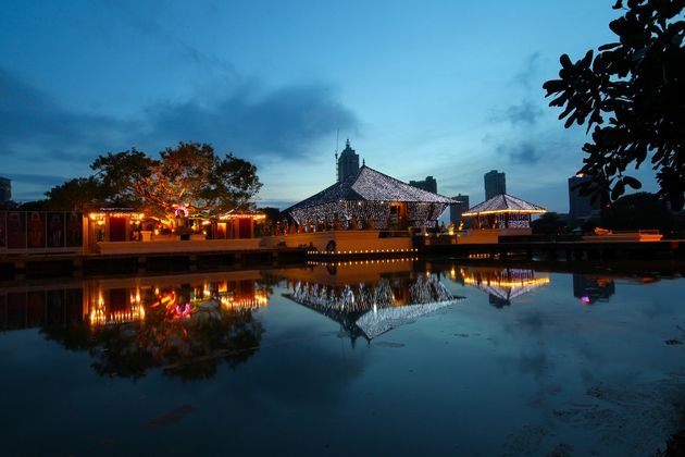 Seema Malaka temple on Beira Lake. Colombo, Sri