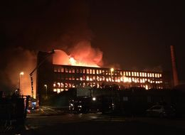 100 Homes Evacuated In Oldham As Huge Blaze Engulfs Paper Mill