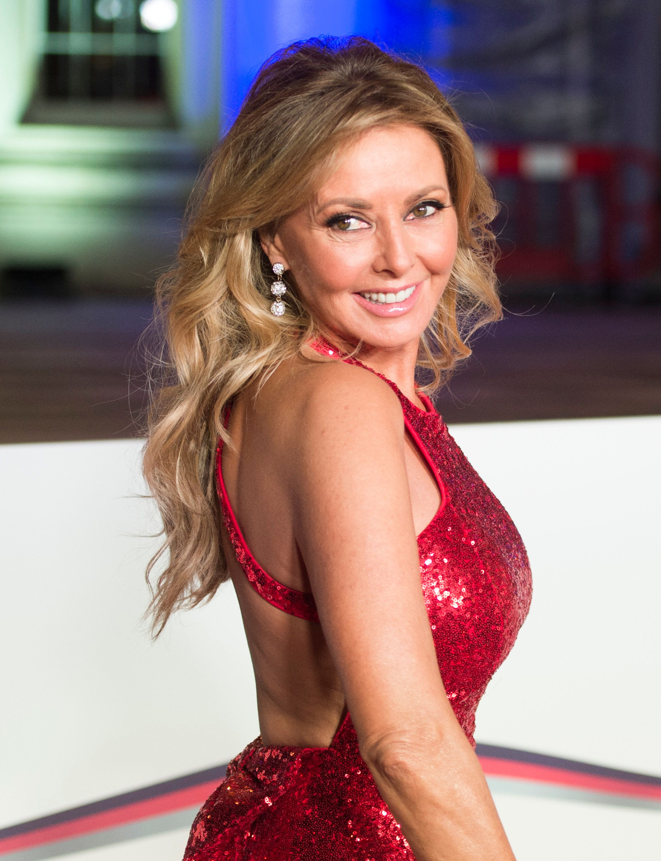 Carol Vorderman Channels Jessica Rabbit On The Red Carpet Of The Sun Military