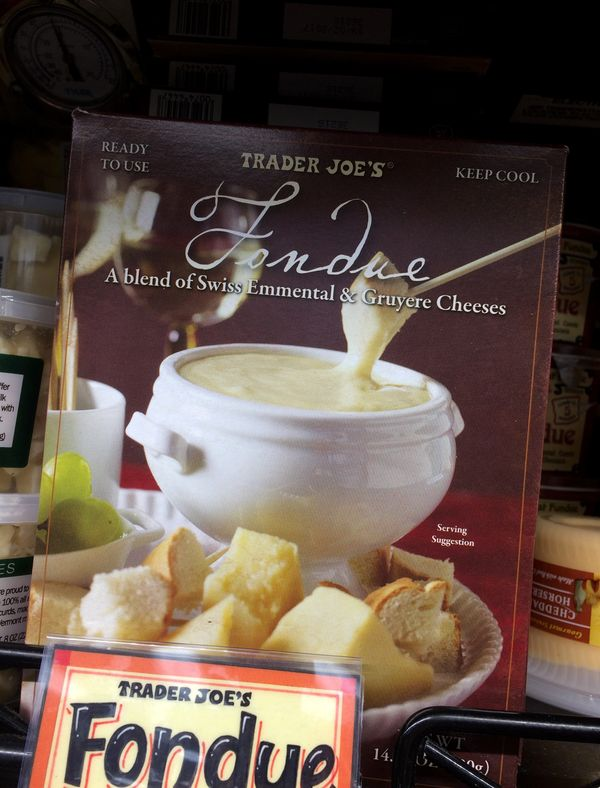 That's right, fondue. Leave it to Trader Joe's to bring back this beloved retro dish.