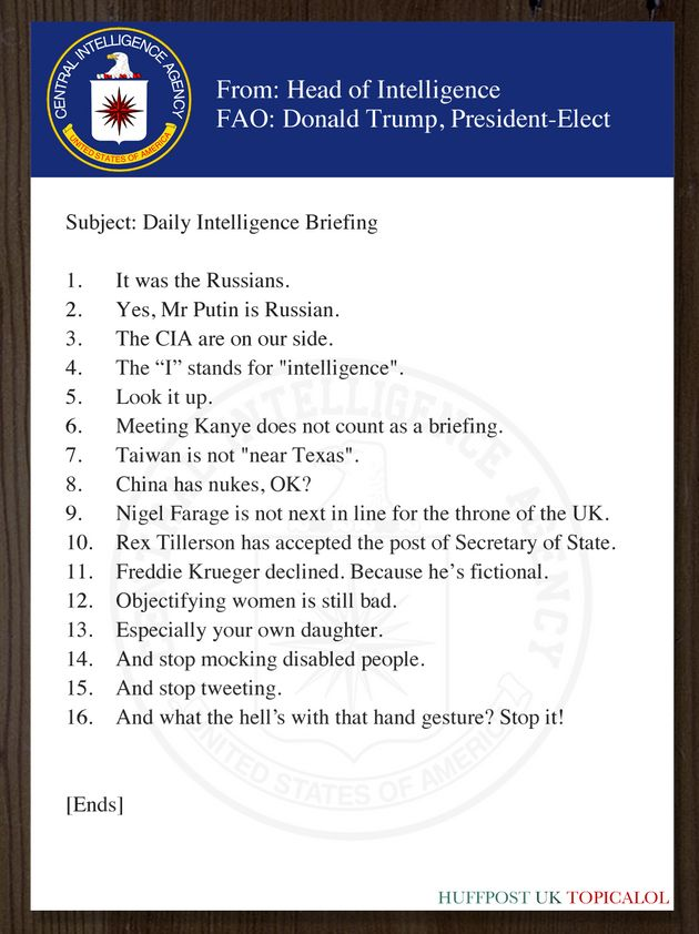 Donald Trump's CIA Security Briefing