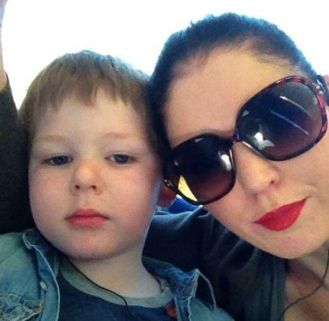 Sinead Higgins and her son Oisin