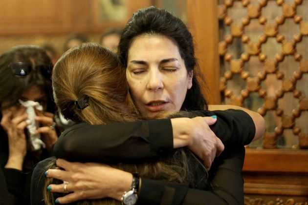 Relatives and friends of EgyptAir hostess Yara Hani, who was onboard Flight MS804 from Paris to Cairo...