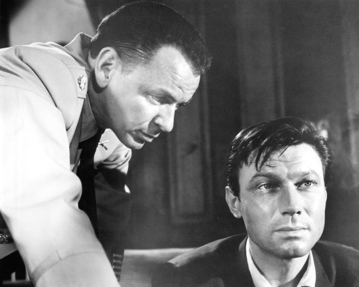 "Frank Sinatra and Laurence Harvey in ""The Manchurian Candidate"" in 1962."