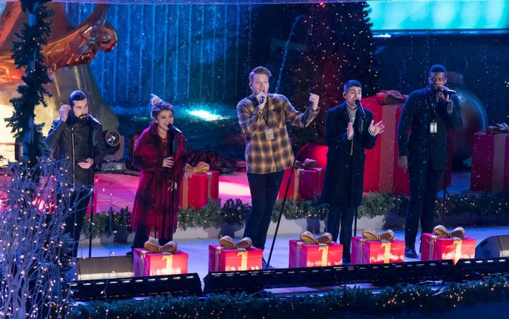 pentatonix perform at the84th rockefeller center christmas tree lighting at rockefeller center on nov