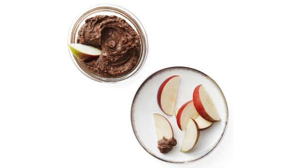 Rich yet virtuous, this healthy reinvention of chocolate-hazelnut butter is perfectly packable (just put it in a small contai